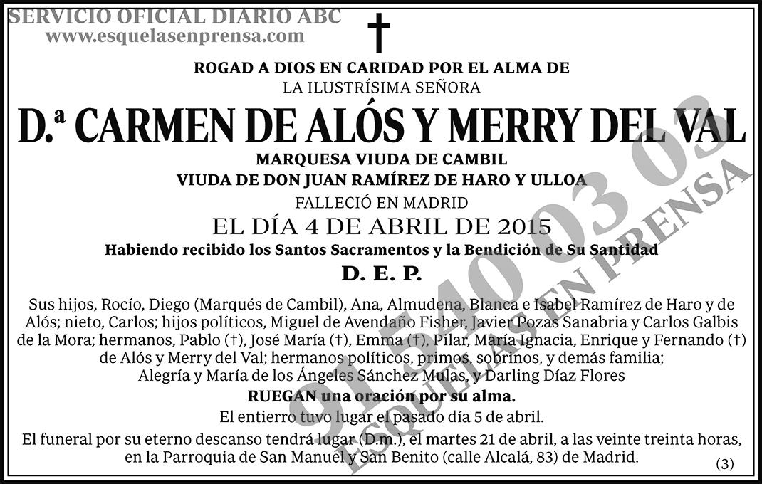 Carmen de Alós y Merry del Val